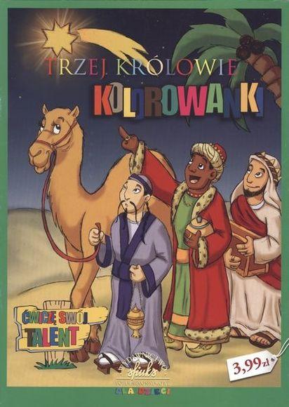 Kolorowanka Bożonarodzeniowa Trzej Królowie Smykcom