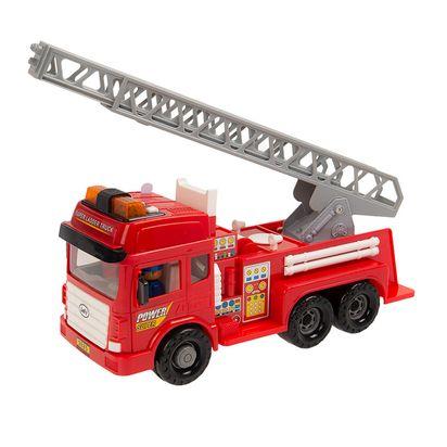 Smiki Fire Truck Straż Pożarna światło I Dźwięk Pojazd