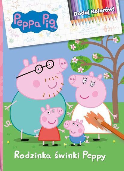 świnka Peppa Dodaj Kolorów Rodzinka świnki Peppy