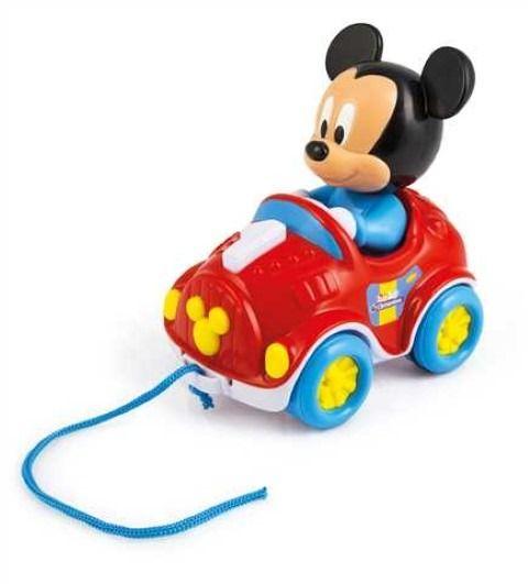 myszka miki samochodzik do ciagniecia