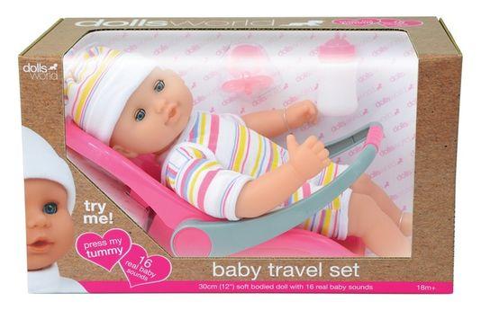 Dante lalka bobas z fotelikiem samochodowym