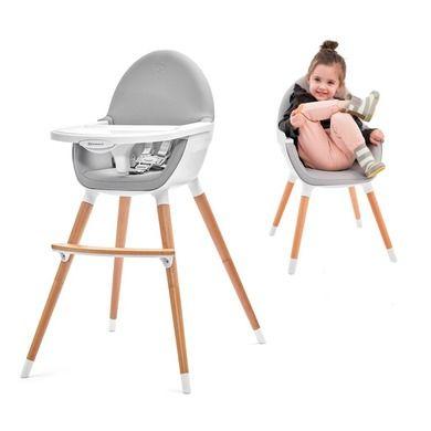 Krzesełka do karmienia dzieci drewniane i plastikowe