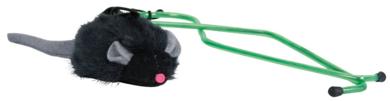Trixie, piszczaca mysz, zabawka dla kota, montaz na drzwiach